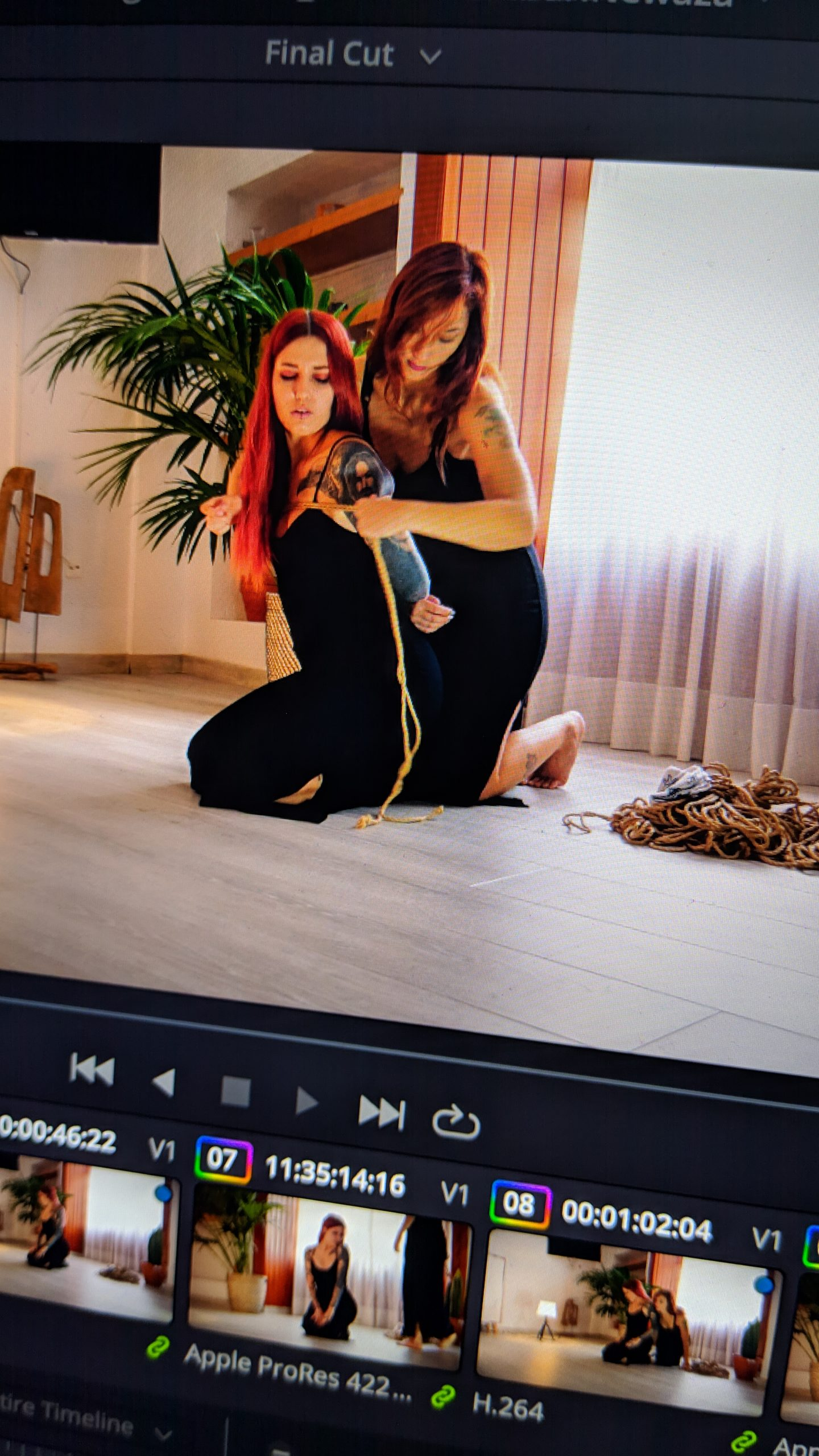First adult Shibari video is rendering.