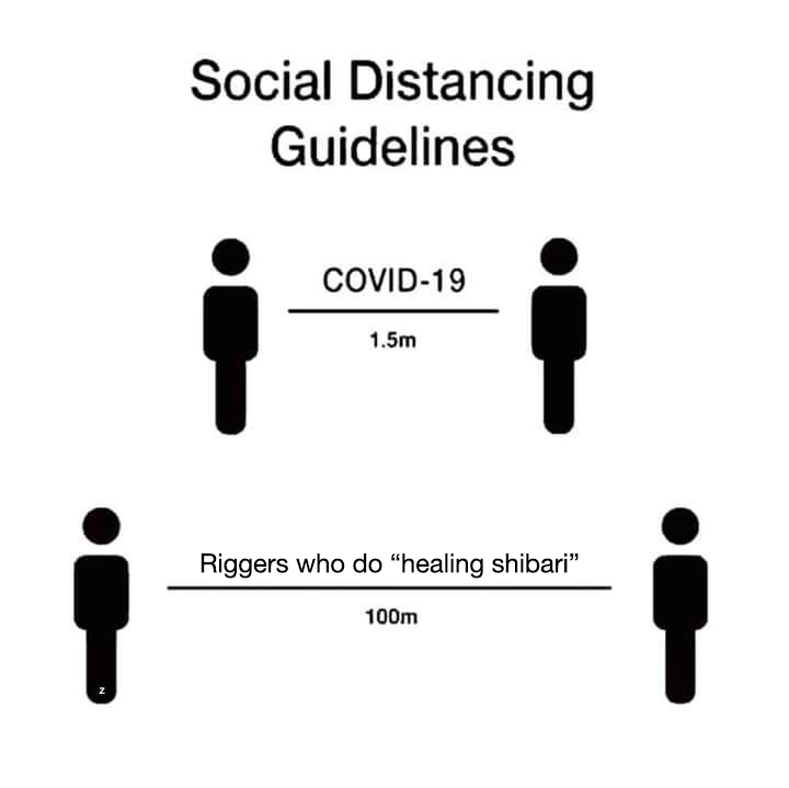 20 more social distancing guidelines for Shibari :P